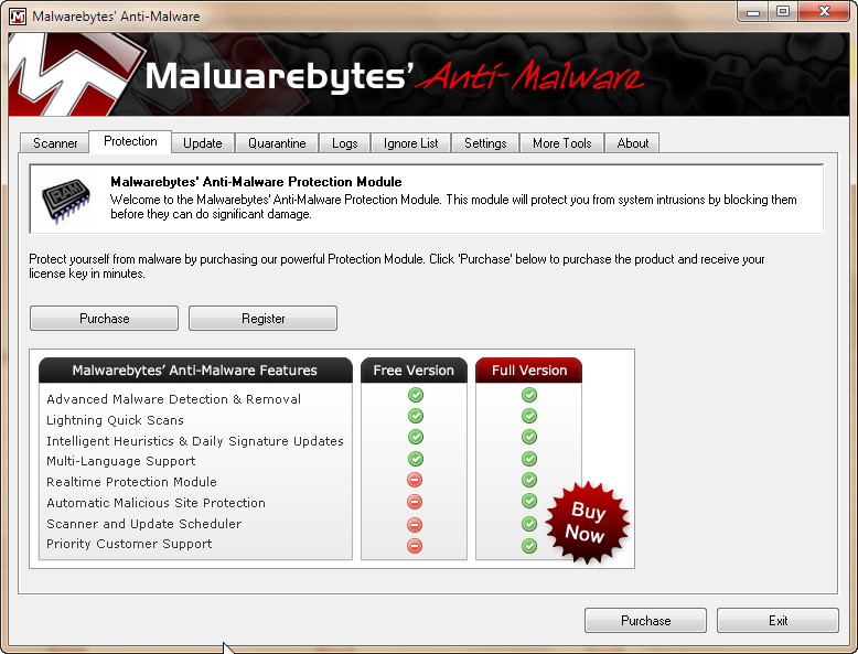 Is the malwarebytes anti malware not running phone popup screen